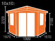 10x10 Bengal Corner Cabin