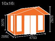 10x16 Shere Log Cabin