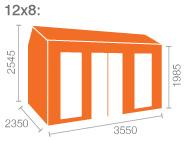 12x8 Tiger Retreat Contemporary Summerhouse