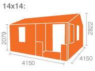 14x14 Amur Log Cabin