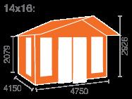 14x16 Shere Log Cabin