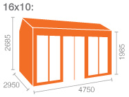 16x10 Tiger Retreat Contemporary Summerhouse