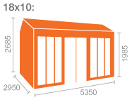 18x10 Tiger Retreat Contemporary Summerhouse