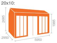 20x10 Tiger Retreat Contemporary Summerhouse