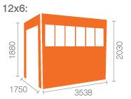 12x6 Tiger Flex Pent