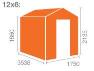 12x6 Tiger Flex Apex Windowless