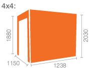 4x4 TigerFlex® Pent Windowless