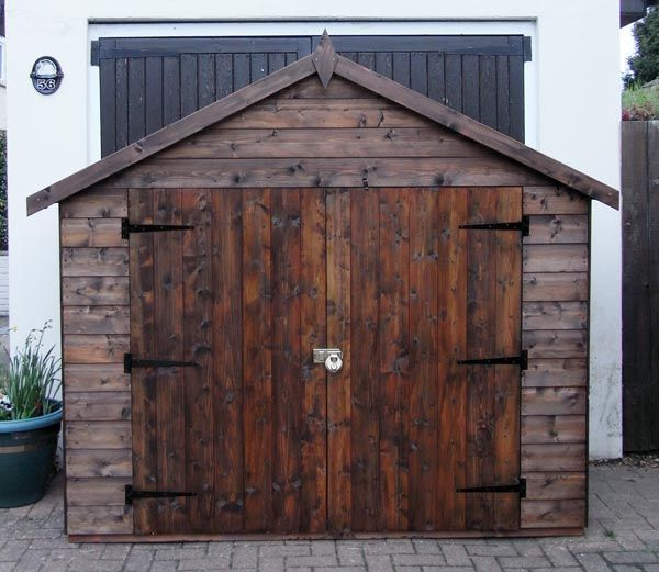 wooden bike sheds bike storage shed. Black Bedroom Furniture Sets. Home Design Ideas