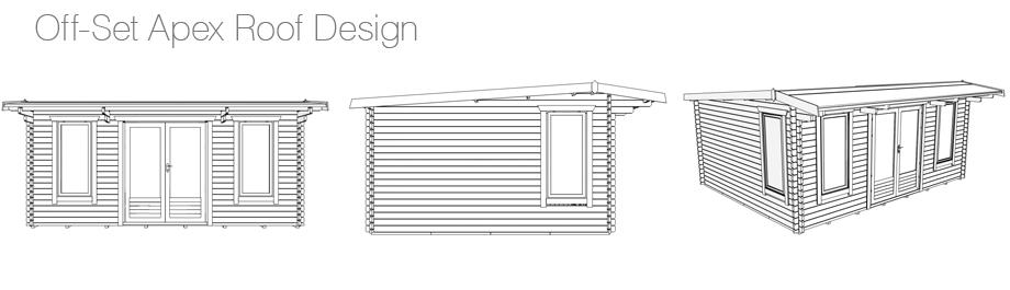 An Off-Set Apex Roof Log Cabin