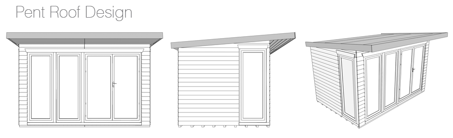 Profiles of an Pent Roof Summer House
