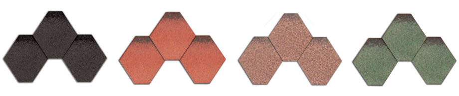 Felt Shingles in Different Colours