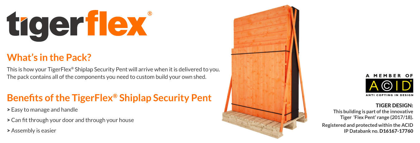 TigerFlex® Pent Security Shed