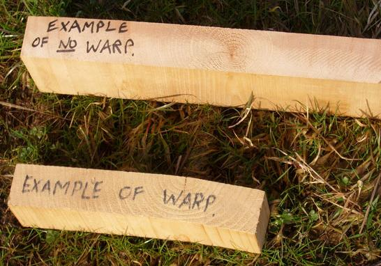how to get the warp out of a timber tabletop