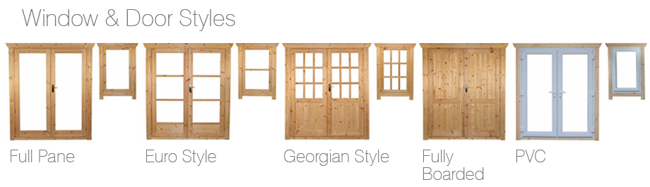 Window and Door Styles of Log Cabins