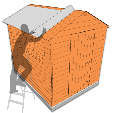 Position felt on a shed