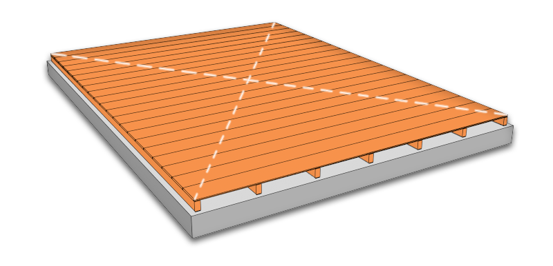 position the floor panel for a shed