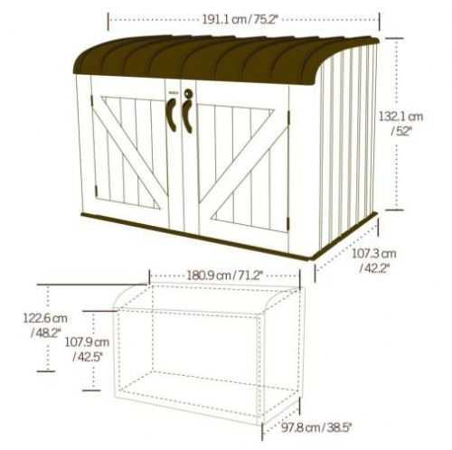 Lifetime 6x3.5 Heavy Duty Storage Box