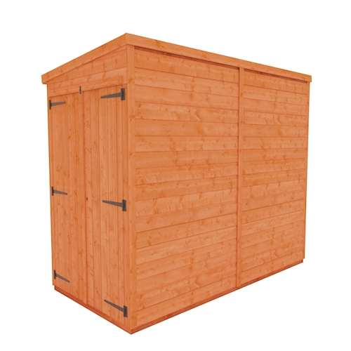 TigerFlex Shiplap Pent Windowless Double Door Shed