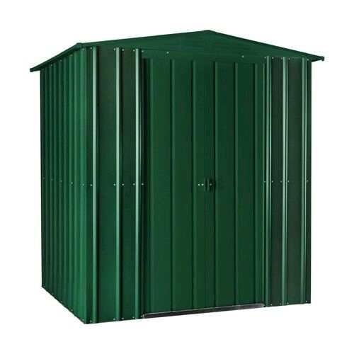 Lotus Metal Apex Shed in Heritage Green