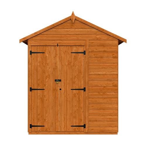 TigerFlex® Shiplap Apex Security Double Door Shed