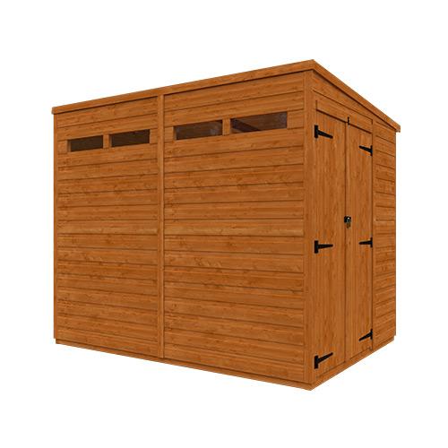 TigerFlex® Shiplap Pent Security Double Door Shed