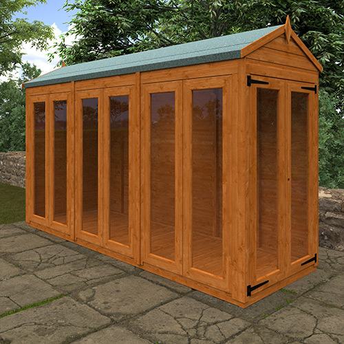 TigerFlex® Shiplap Apex Full Pane Summerhouse