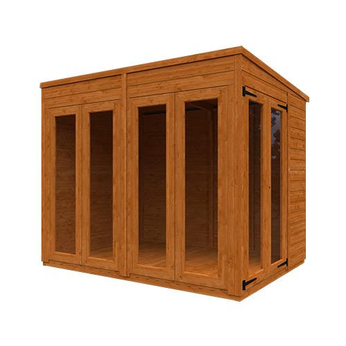TigerFlex® Shiplap Pent Full Pane Summerhouse