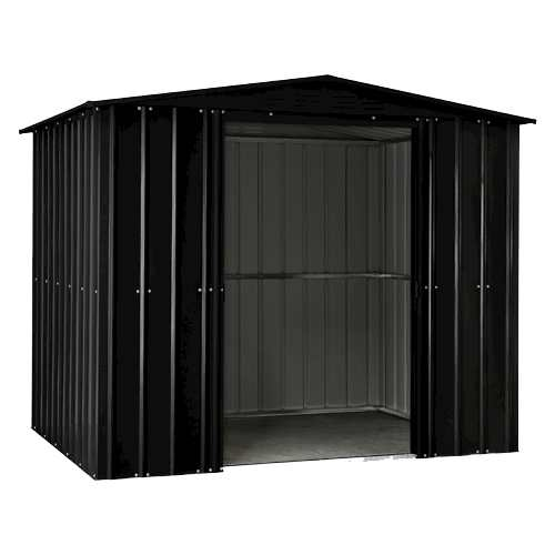 Lotus Metal Apex Shed in Anthracite Grey