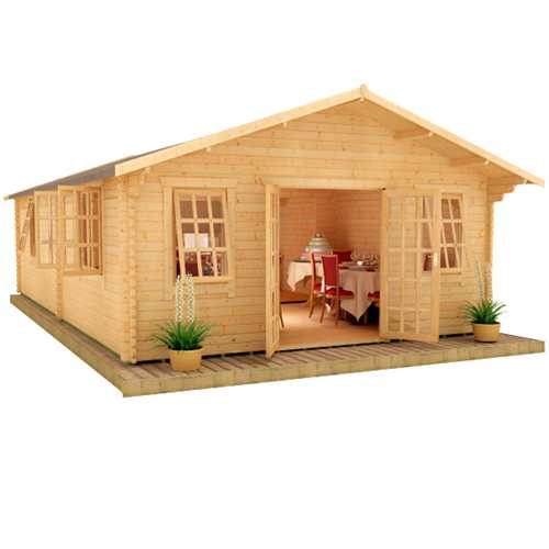 The Omega   44mm Log Cabin