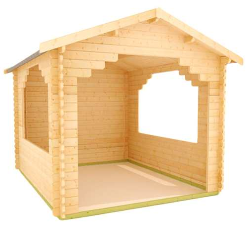 44mm Log Cabins For BBQs, Hot