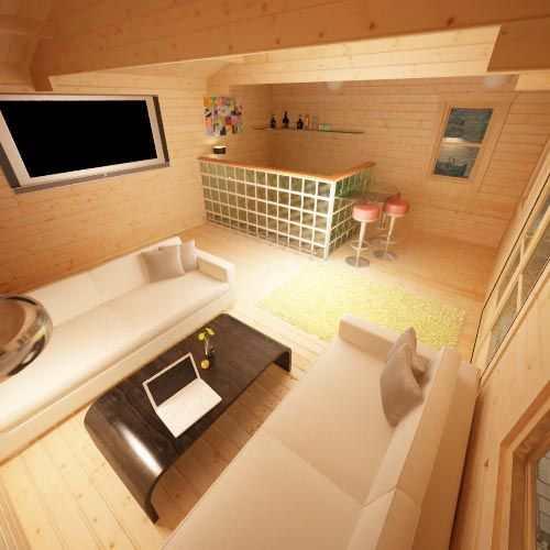 The Delta | 44mm Log Cabin