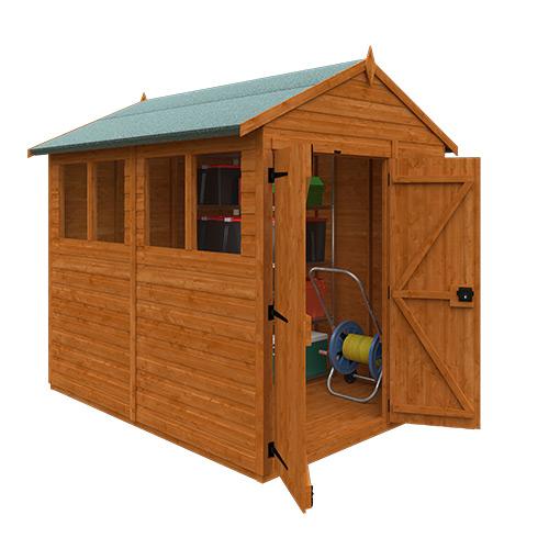 TigerFlex® Shiplap Apex Double Door Shed