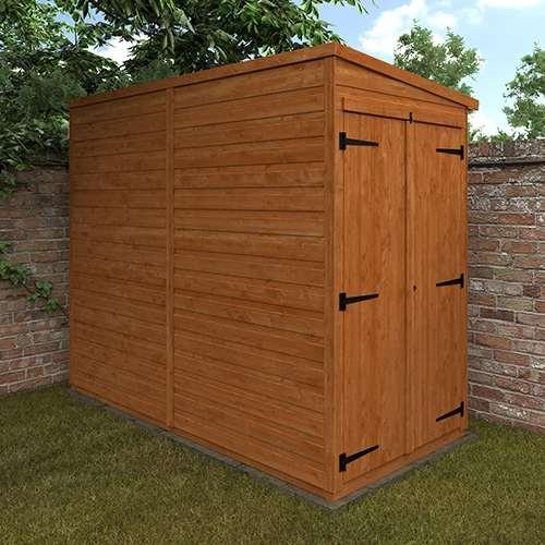 TigerFlex® Shiplap Pent Windowless Double Door Shed