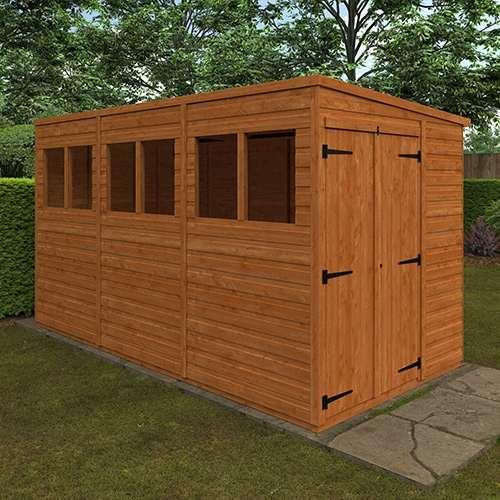 TigerFlex® Shiplap Pent Double Door Shed