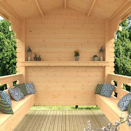 The Garden Shelter | 44mm Log Cabin