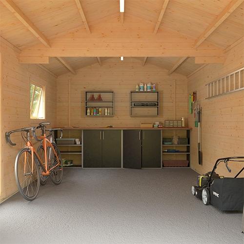 The Malayan Garage | 44mm Log Cabin