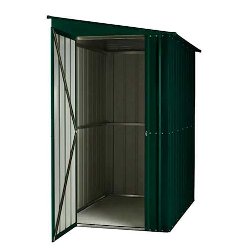 Lotus Metal Lean-To Pent Shed in Heritage Green