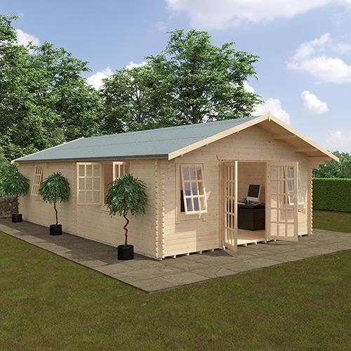 The Omega | 44mm Log Cabin