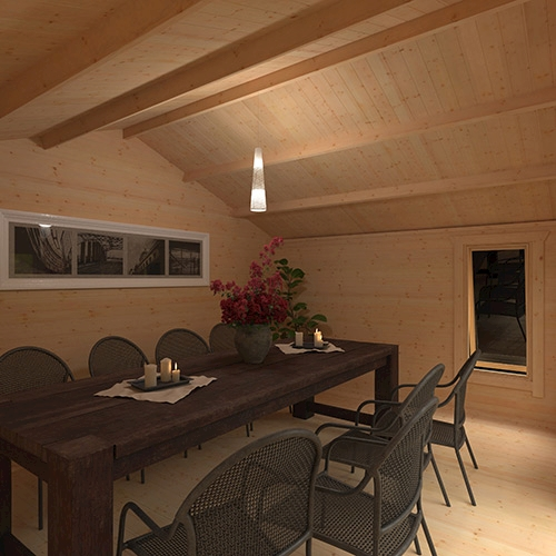 The Shere   44mm Log Cabin
