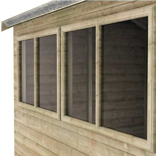 Tiger Elite Pressure Treated Apex Shed