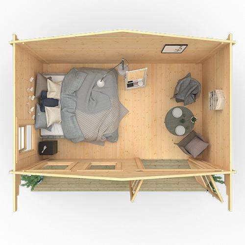 The Zeta | 44mm Log Cabin
