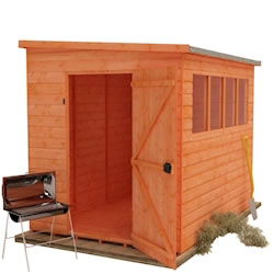 Shiplap Extra High Pent Shed Wooden Garden Sheds By Tiger Sheds