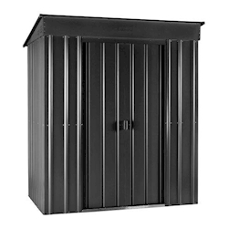 Lotus Metal Pent Shed in Anthracite Grey