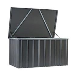 Lotus Metal Storage Box in Anthracite Grey