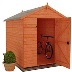 Tiger Shiplap Windowless Apex Shed