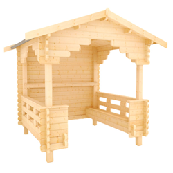The Garden Shelter | 44mm Log Cabin