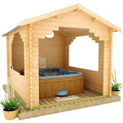 The Sumatran Shelter | 44mm Log Cabin (for BBQs, Hot Tubs or Cars)