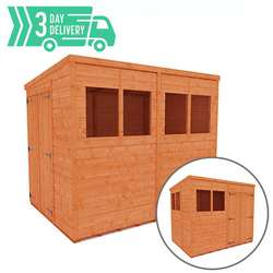 Tiger™ Double Door Flex Pent Shed