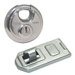 Hasp and Staple (260 series, 120) + Disk Lock Combo (60)