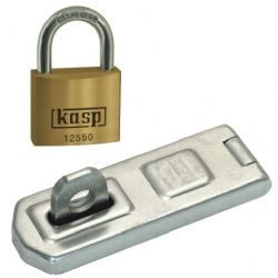 Kasp Hasp and Staple + Premium Brass Lock Combo
